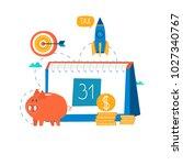 financial calendar  financial... | Shutterstock .eps vector #1027340767