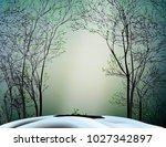 first spring sun ray  spring... | Shutterstock .eps vector #1027342897