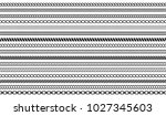 set of rope and chain brushes.... | Shutterstock .eps vector #1027345603