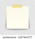 paper sheet on translucent... | Shutterstock .eps vector #1027361377