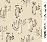 cactus vector print | Shutterstock .eps vector #1027362907