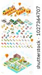 build your own city . set of... | Shutterstock .eps vector #1027364707