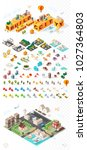 build your own city . set of... | Shutterstock .eps vector #1027364803