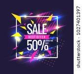 best sale banner. original... | Shutterstock .eps vector #1027401397