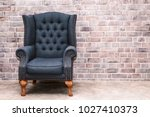modern armchair furniture with... | Shutterstock . vector #1027410373