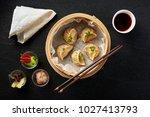 Dim Sum Dumplings In Steamer...