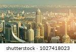 bangkok city central business...   Shutterstock . vector #1027418023