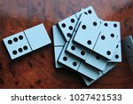 domino effect. game for... | Shutterstock . vector #1027421533