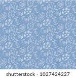 seamlees pattern with easter... | Shutterstock .eps vector #1027424227