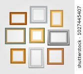 vector set of picture frames on ... | Shutterstock .eps vector #1027445407