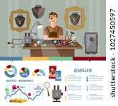 jewelry infographics jewels... | Shutterstock .eps vector #1027450597