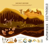 archeology and paleontology... | Shutterstock .eps vector #1027450813
