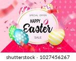 easter eggs sale banner... | Shutterstock .eps vector #1027456267