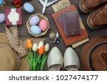top view shot of arrangement... | Shutterstock . vector #1027474177