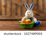 holiday  easter background. | Shutterstock . vector #1027489003