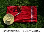 red summer style at holiday | Shutterstock . vector #1027493857