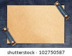 Brown Paper On Blue Jeans...