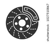 disc brake with caliper glyph... | Shutterstock .eps vector #1027510867