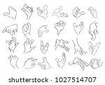 a set of vector cartoon... | Shutterstock .eps vector #1027514707