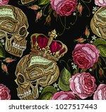 embroidery golden crown  human... | Shutterstock .eps vector #1027517443