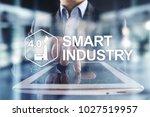 smart industry. industrial and... | Shutterstock . vector #1027519957