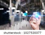 forex. candlestick chart. stock ... | Shutterstock . vector #1027520377