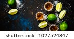 strong alcoholic drink with...   Shutterstock . vector #1027524847