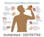 symptoms and effects of... | Shutterstock .eps vector #1027527763