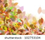 Background color of the leaves - stock photo