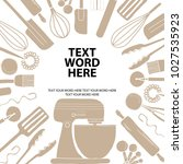 poster design for cooking or... | Shutterstock .eps vector #1027535923
