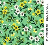 trendy seamless vector floral... | Shutterstock .eps vector #1027537333