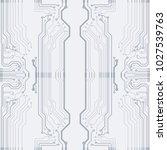 vector flat circuit board... | Shutterstock .eps vector #1027539763