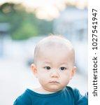 portrait of cute adorable ten... | Shutterstock . vector #1027541947
