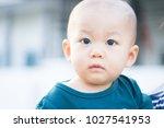 portrait of cute adorable ten... | Shutterstock . vector #1027541953