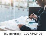 businessman using computer to...   Shutterstock . vector #1027542403