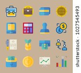 icons banking with wallet  card ... | Shutterstock .eps vector #1027545493