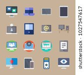 icons computer with phone ... | Shutterstock .eps vector #1027547617