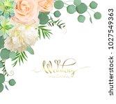 design of wedding card  | Shutterstock .eps vector #1027549363