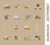 icons construction machinery... | Shutterstock .eps vector #1027549867