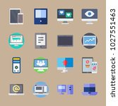 icons computer with phone ... | Shutterstock .eps vector #1027551463