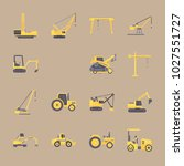 icons construction machinery... | Shutterstock .eps vector #1027551727