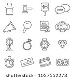 auction house or auction icons... | Shutterstock .eps vector #1027552273