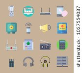 icons gadgets with tool  plug ... | Shutterstock .eps vector #1027554037