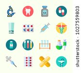 icons about medical with... | Shutterstock .eps vector #1027559803