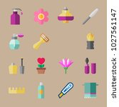 icons beauty with moisturizer ... | Shutterstock .eps vector #1027561147