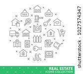 collection of real estate thin... | Shutterstock .eps vector #1027574347