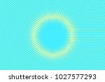 turquoise yellow dotted... | Shutterstock .eps vector #1027577293