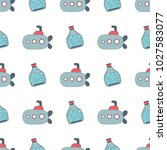 navy vector seamless patterns....   Shutterstock .eps vector #1027583077