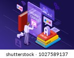 learning from textbook this is... | Shutterstock .eps vector #1027589137