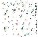 hand drawn flowers | Shutterstock . vector #1027596433